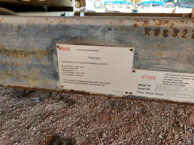 Комбайн Друга марка FMC- Комбайн за бобови растения, снимка 6
